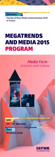 Megatrends and Media 2015 - Fakulta masmediálnej komunikácie