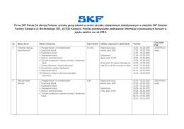 Oferta szkoleń w języku polskim na rok 2015