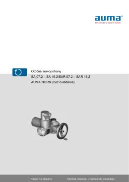 Otočné servopohony SA 07.2 – SA 16.2/SAR 07.2 – SAR 16.2