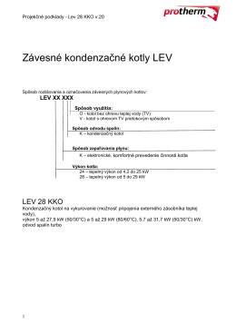 Projekčné podklady Lev 28KKO v20 Prospekt