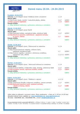 denné menu v pdf