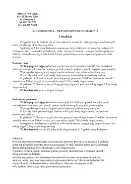 Przygotowanie do badania - CitraFleet