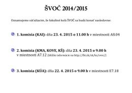 ŠVOČ 2014/2015