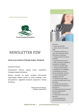 NEWSLETTER PZW - Polski Związek Windykacji