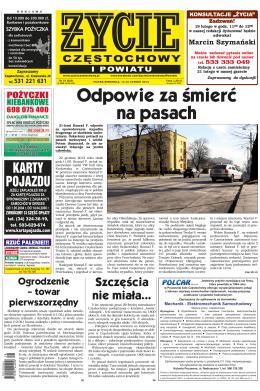 Odpowie za śmierć na pasach - Życie Częstochowy i Powiatu online