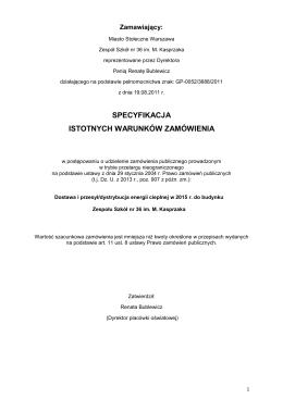 SIWZ 28.11.2014 - Zespół Szkół Nr 36 im. Marcina Kasprzaka