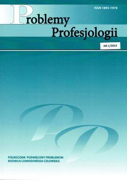 nr 1/2014 - Problemy Profesjologii