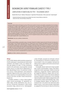 ekonomiczny aspekt powikłań cukrzycy typu 1