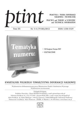 3-4 - Polskie Towarzystwo Informacji Naukowej