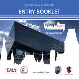 ENTRY BOOKLET - EMACI Toruń 2015
