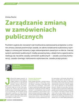 Zarządzanie zmianą w zamówieniach publicznych