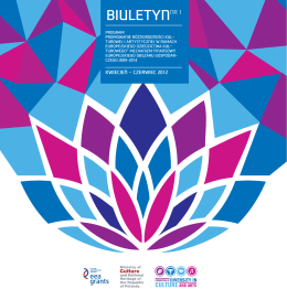 BIULETYNNR 1 - Promowanie różnorodności kulturowej i artystycznej