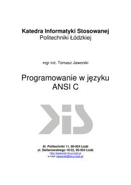 Programowanie w języku ANSI C