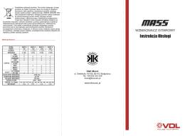 Wzmacniacz gitarowy MASS instrukcja obsługi