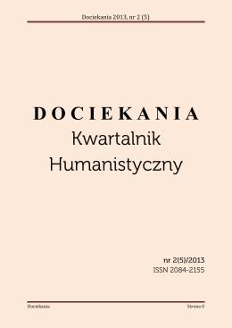 Dociekania 2013, nr 2 (5)