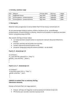 1. Formaty, rozmiary i wagi Kod Miejsce Format pliku