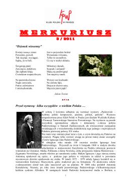 Merkuriusz nr. 3/2011 - Klub Polski w Pradze