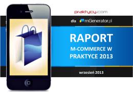 Raport m-commerce w praktyce 2013