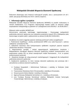 Małopolski Ośrodek Wsparcia Ekonomii Społecznej (PDF)