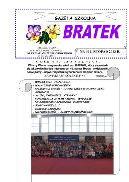 Pobierz BRATEK - Szkoła podstawowa w Gomulinie