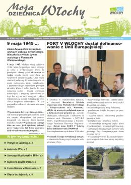 FORT V WŁOCHY dostał dofinanso- wanie z Unii Europejskiej! 9