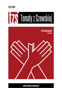 Tematy z Szewskiej Performatywność 2(12) 2014
