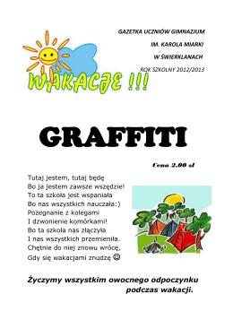 """czerwcowym wydaniu gazetki """"Graffiti"""""""