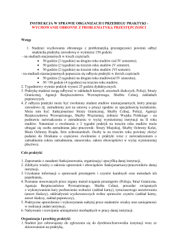 Instrukcje odbywania praktyk - rok II i III