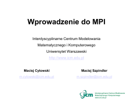 Wprowadzenie do MPI