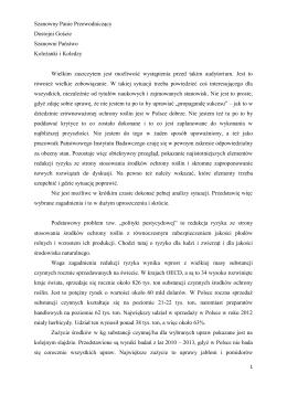 Tekst wystąpnienia - Instytut Ochrony Roślin w Poznaniu, Oddział w