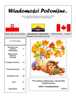 Październik - Polish Winnipeg