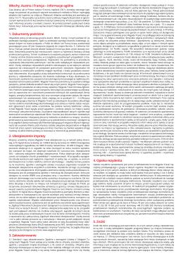 Ważne uwagi ZIMA 2014/2015