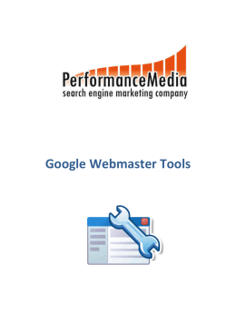 Google Webmaster Tools - Blog Performance Media