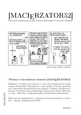 styczniowe - Koło Naukowe Matematyków UŚ