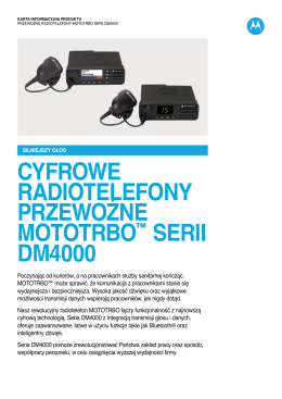 MOTOTRBO DM4000 Series Data Sheet (PL)