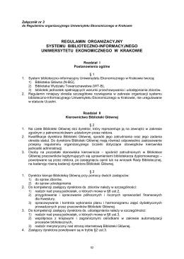 regulamin organizacyjny systemu biblioteczno