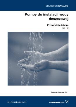 Pompy do instalacji wody deszczowej