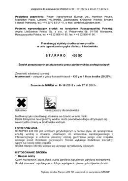 S T A R P R O  430 SC - Arysta LifeScience Polska