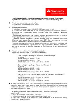 Szczegółowe zasady przeprowadzania aukcji int.
