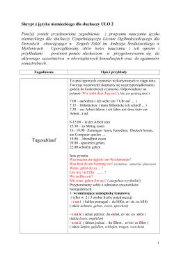 Skrypt z języka niemieckiego dla słuchaczy ULO 2