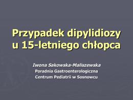 Przypadek dipylidiozy u 15-letniego chłopca