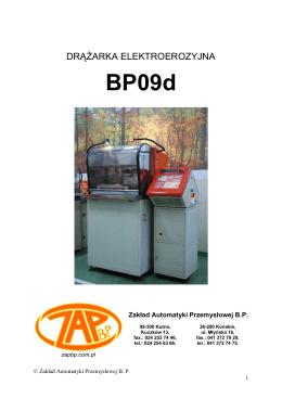 DTR 09d - Zakład Automatyki Przemysłowej BP