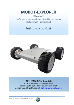 MOBOT-EXPLORER v2 - instrukcja obsługi