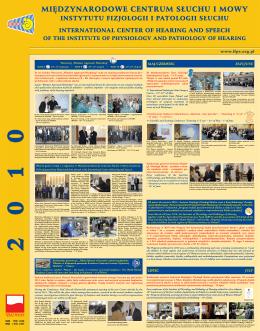 Wydarzenia 2010 - Instytut Fizjologii i Patologii Słuchu