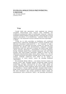 Czytaj całość - PAUniK Polska Akademia Uniwersalnego Kierowania