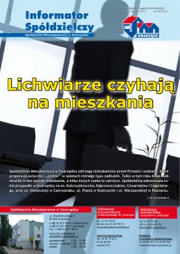 Informator Spółdzielczy - Spółdzielnia Mieszkaniowa w Swarzędzu