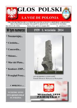 W tym numerze - Unión de los Polacos en la República Argentina