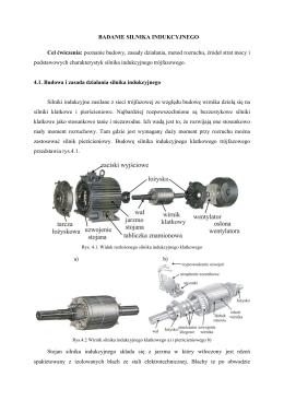 Ćw. 2 Badanie silnika indukcyjnego pierŚcieniowego