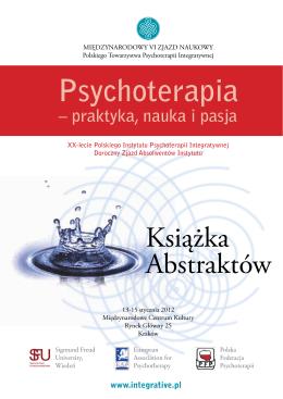 Książka abstraktów - Polskie Towarzystwo Psychoterapii Integratywnej