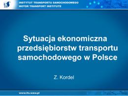 Sytuacja ekonomiczna firm - prof. Zdzisław Kordel